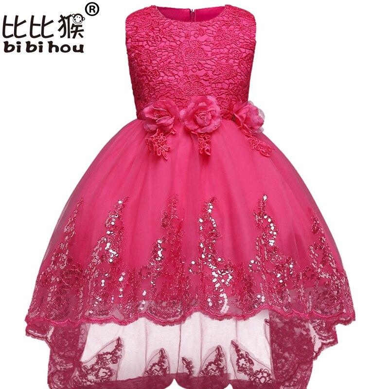 1181 27 De Descuentovestidos Para Niñas 2018 Nuevo Diseño Vestidos De Niña De Las Flores Para Bodas Niño Cumpleaños Vestido Bordado Organza 3
