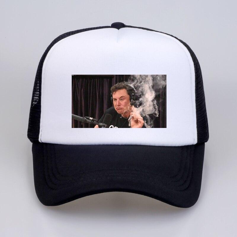 new Summer cool Mesh cap Elon musk smoking Baseball caps Men Women Outdoor recreation Snapback hat elon bone gorras