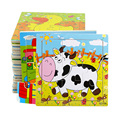 5 peças/lote placa tridimensional lã tangram jigsaw puzzle infantil Criança bebê brinquedo da inteligência enigma de madeira puzzle