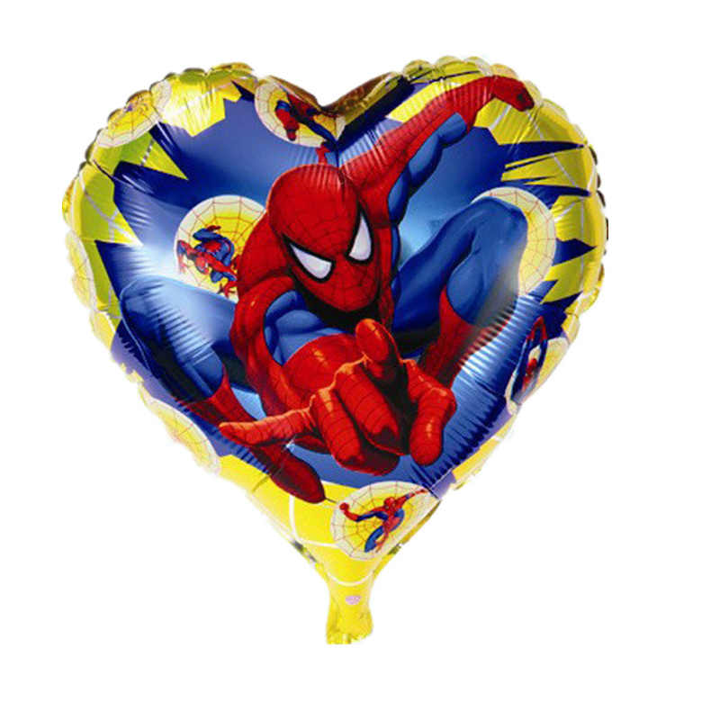 1pcs Super Hero Balloons Avengers Spiderman Batman Foil Balloon Children Birthday Party Supplies Baby Superman Toys Decorn