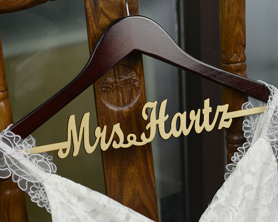 Personalized Rustic Wedding Hanger Bride Bridesmaid Wood Name Dress Bridal Shower Gift In Hangers Racks From Home Garden On