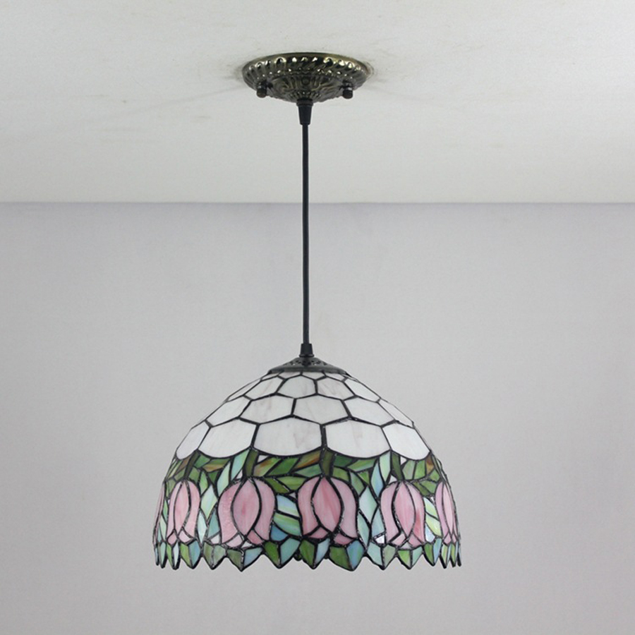 Hot sale tiffany tulip chandelier restaurant cafe chandelier color hot sale tiffany tulip chandelier restaurant cafe chandelier color glass tulip chandelier 30cm led light in candle accessories from home garden on aloadofball Image collections