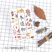Infeel Me Warm Empty Postcards Winter Creation 30 Boxes Of Creative Hand Painted Illustration Plant Japanese