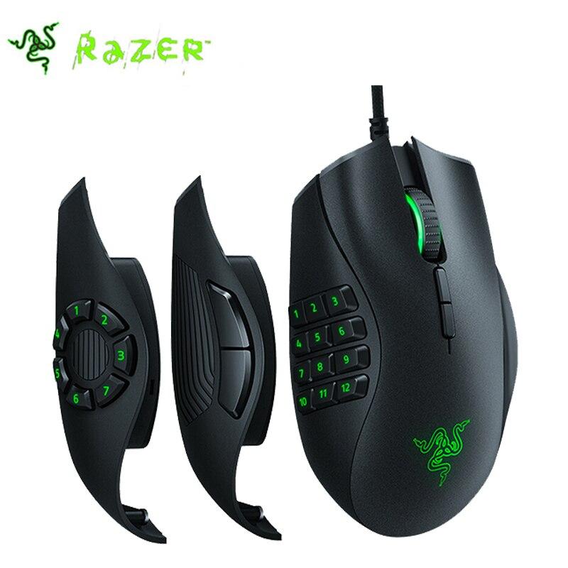 Razer Naga Trinité MOBA/MMO Computer Gaming Mouse Droitier de monde plus avancée 5G optique capteur 16000 DPI RGB lumière Chroma