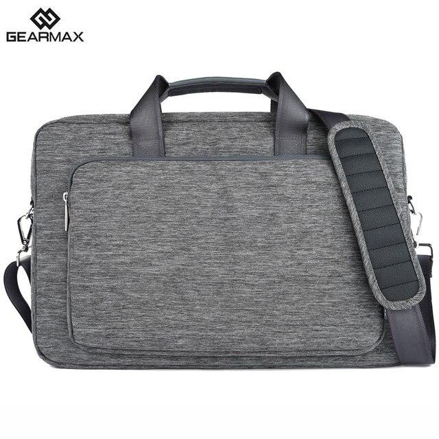 2017 gearmax laptop bag 13 14 15 17 водонепроницаемый нейлон ноутбук случай мужская сумка для ноутбука для macbook air 13 pro женщины посланник мешки