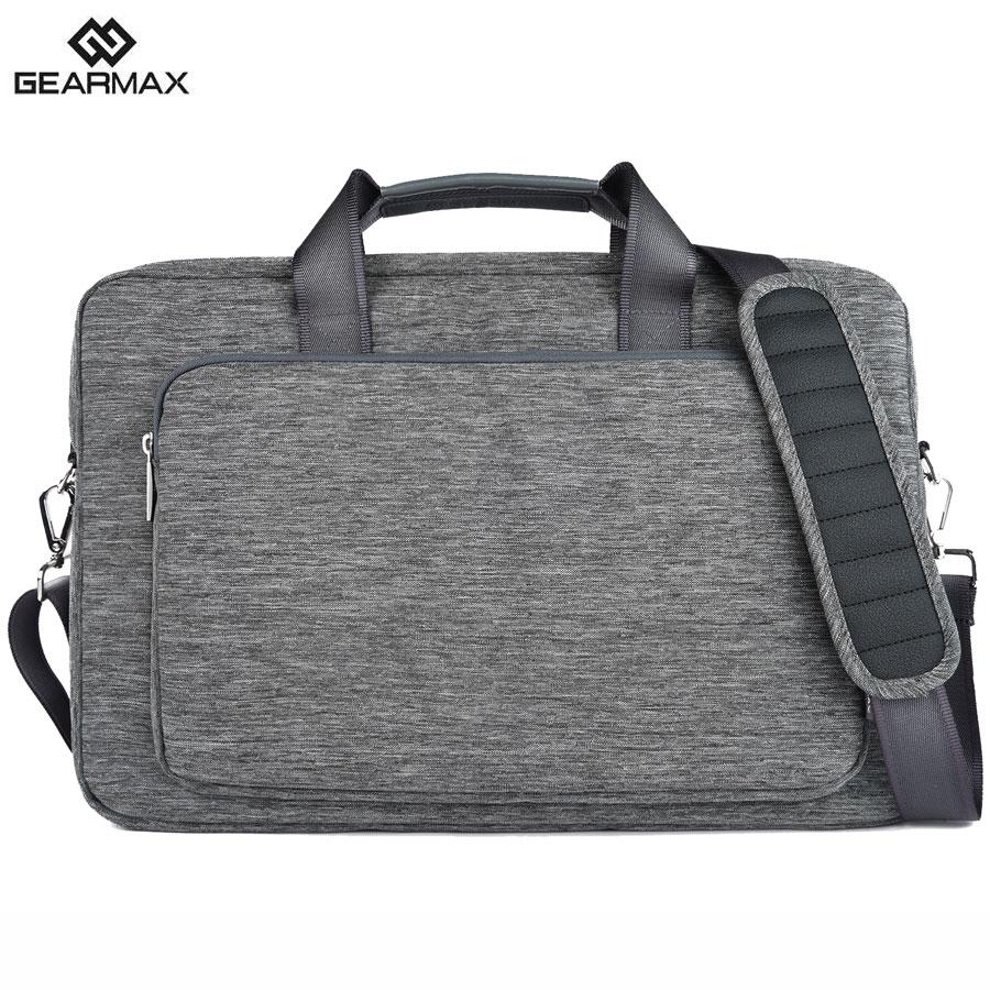 2019 GEARMAX Laptop Bag 13.3 14.1 15 Անջրանցիկ նեյլոնե նոութբուքի տուփ տղամարդկանց նոութբուքի պայուսակ Macbook Air 13 Pro կանանց սուրհանդակային պայուսակների համար