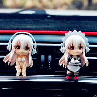 2 sets of car accessories plastic material creative outlet cartoon doll automobile perfume clip car perfume auto air freshener