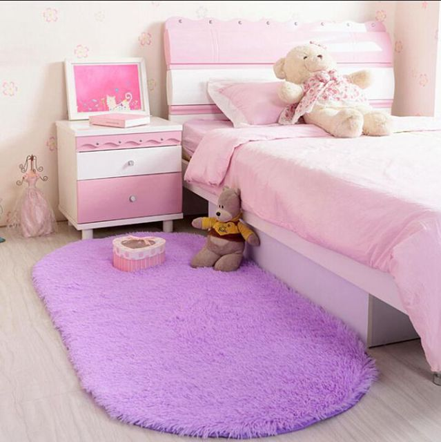 16 Ukuran Oval Mewah Besar Anak Bantal Daerah Karpet Lembut R Tidur Ruang