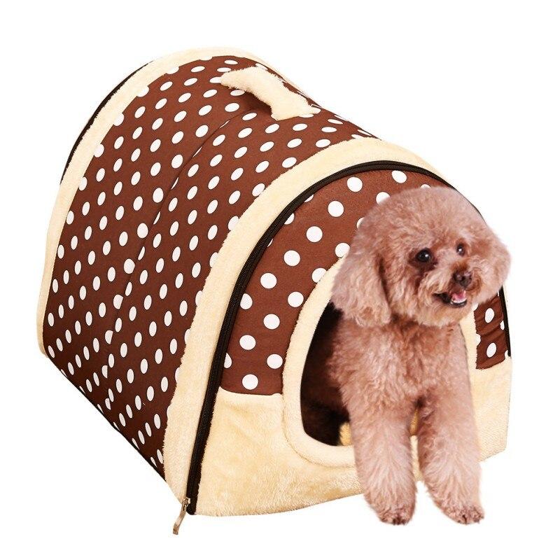 Новинка 2017 года собака дом гнездо с Коврики Складной Собака Кошка Кровать Дом для малых и средних Товары для собак путешествия кровать y6 ...