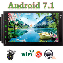 """Автомагнитолы с Bluetooth WI-FI """" емкостный сенсорный экран Поддержка AM/FM RDS реверсивное Зеркало Ссылка OBD2 сабвуфер включает беспроводной"""