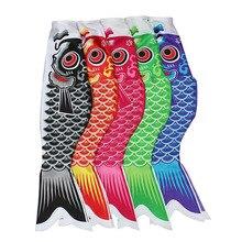 40/55/70/100 см японский Карп ветрового стекла стример рыбы пиратский флаг, воздушный змей с мультяшной рыбкой; красочные ветрового стекла Карп ветер носок, флаг коинобори подарок
