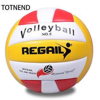 Standardowa piłka siatkowa do treningu konkurencja siatkówka miękka siatkówka plażowa praktyka siatkówka maszyna piłka z pompą tanie i dobre opinie TOTNEND CN (pochodzenie) TT453 machine seam red blue NO 5
