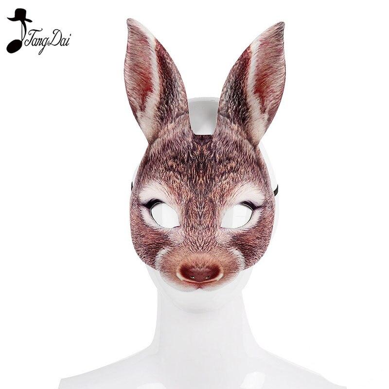 Halloween Easter mardi gras carnival party masquerade EVA half face rabbit  mask Animal Cosplay
