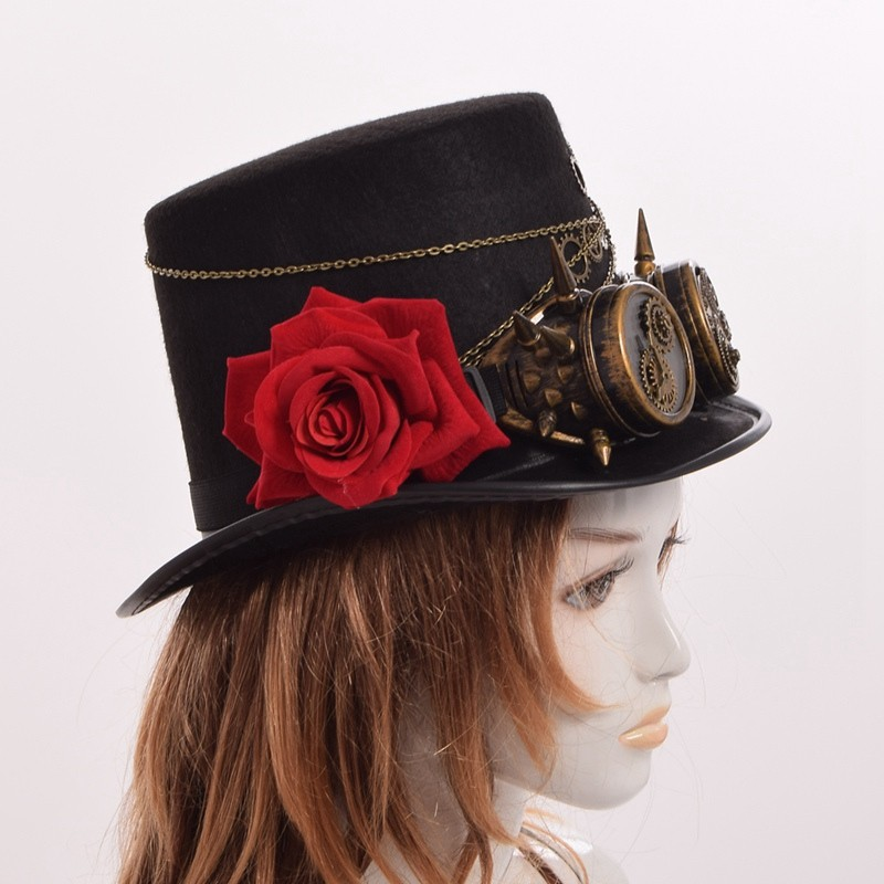 steampunk top hat for ladies