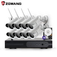 ZGWANG 8CH 960 P HDMI NVR עמיד חיצוני טלוויזיה במעגל סגור מצלמה Wifi IP אלחוטי אבטחת בית מערכת ערכת DVR מעקב HD 1 TB