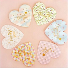 DIY New Cute Kawaii Paper Postcards Fashion Flower Thanks I love you Greeting Post Card for Valentine's Day Free shipping 358