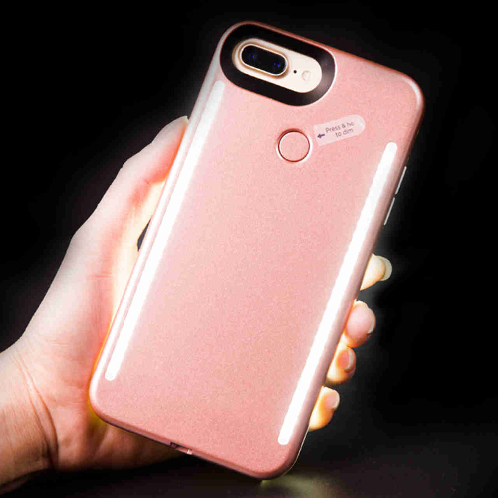 imágenes para Luminoso Cubierta Cajas Del Teléfono para el iphone 5 SE 5S Brillante de emisión de Luz caja del teléfono LED para iPhone7 6 6 más 7 más la Caja de Luz
