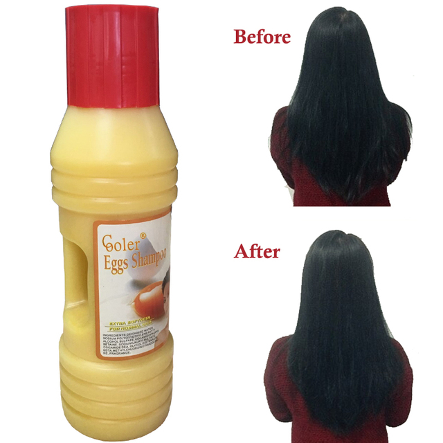 Eggs Damage Repaire Hair Shampoo Shine Enhancing  Hair Care 500ml Cooler Free Shipping Cooler