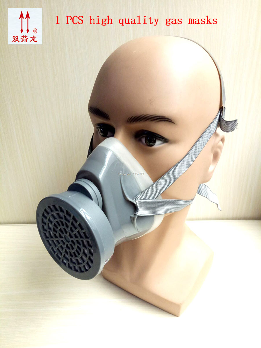 high quality respirator gas mask Single cans Silica gel protective mask New Listing pesticide spraying respirator face mask high quality respirator gas mask provide silica gel gray protective mask paint pesticides industrial safety mask