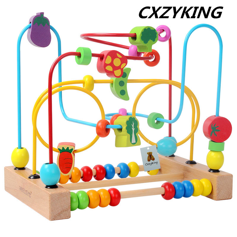CXZYKING Baby Toy Block Wooden Toy Wooden Bead Maze Children Educational Toys for Children Birthday Gift wooden building block baby gift geometry cognitive matching toy fun block board game toy wooden educational toy for children