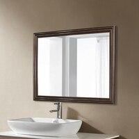 Ретро черный орех зеркало в ванной простой современный китайский коричневый настенный гостиная, спальня косметическое зеркало wx8221537