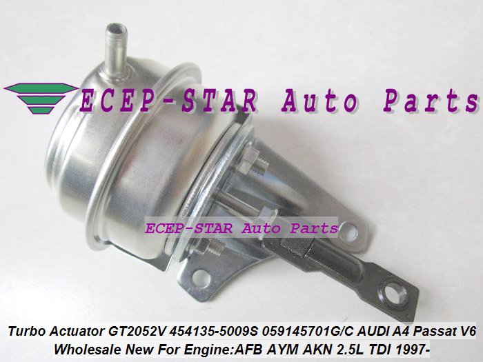 Turbo Wastegate Actuator GT2052V 454135 454135-5009S 434855 Turbocharger For AUDI A4 A6 A8 Passat For SKODA Superb AFB AYM 2.5L