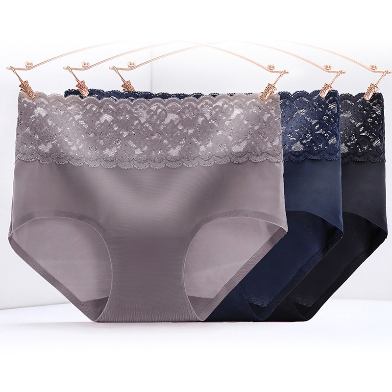 1pcs Sexy   Panties   Lace Underwear Women Transparent Seamless   Panties   Silk Sexy Briefs For Women Underwear Lingerie Underpants