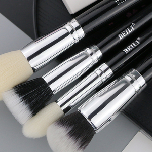 Image 5 - ביילי שחור טבעי עיזים שיער גדול אבקת ננו צמר קרן סומק צלליות קונטור 15pcs איפור מברשת סט כלים