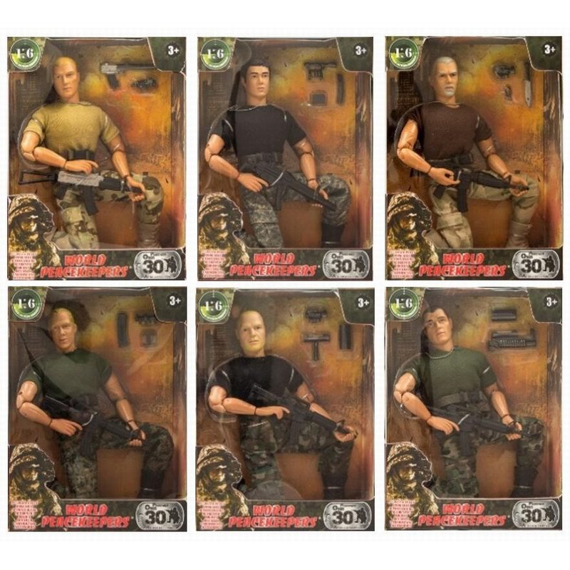 1/6 World Peacekeepers Soldier Action Figure SWAT Military Model Toy Anime Figure Kids Toys For Children