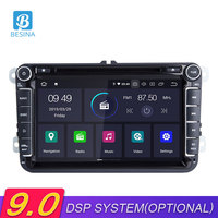 Besina Android 9.0 Car Radio For Volkswagen VW Passat B6 CC b7 Polo Golf Tiguan Octavia Multimedia Player GPS Navigation WIFI