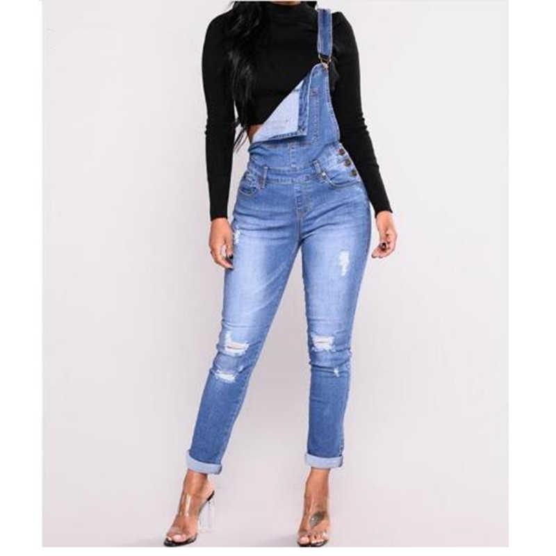 Синие джинсы женский комбинезон джинсовый комбинезон Комбинезоны повседневные длинные брюки vaqueeros базовые джинсовые брюки Широкие брюки комбинезоны тонкие брюки