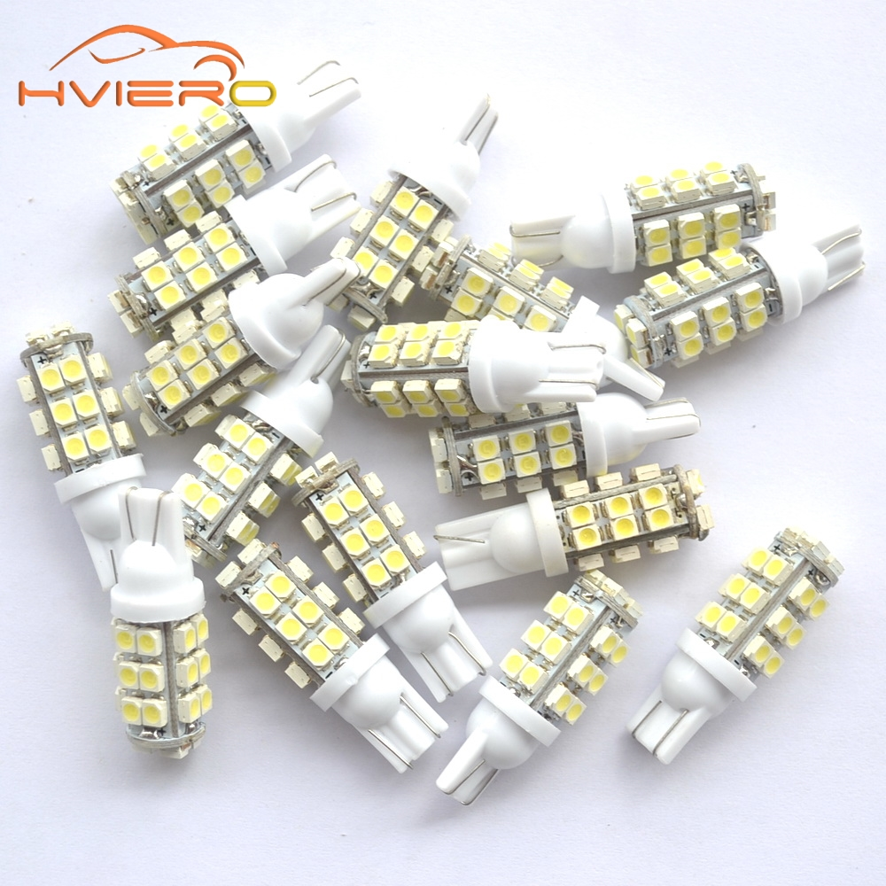 T10 Pure White Red Blue 1210 3528 28 LED W5W Car Side Wide Wedge Tail Light door lights Bulb 194 168 501 Lamp car Accessories 2x t10 w5w 168 194 smd 6 led 5050 remote control rgb car reading wedge lights for car tail light side parking door lighting