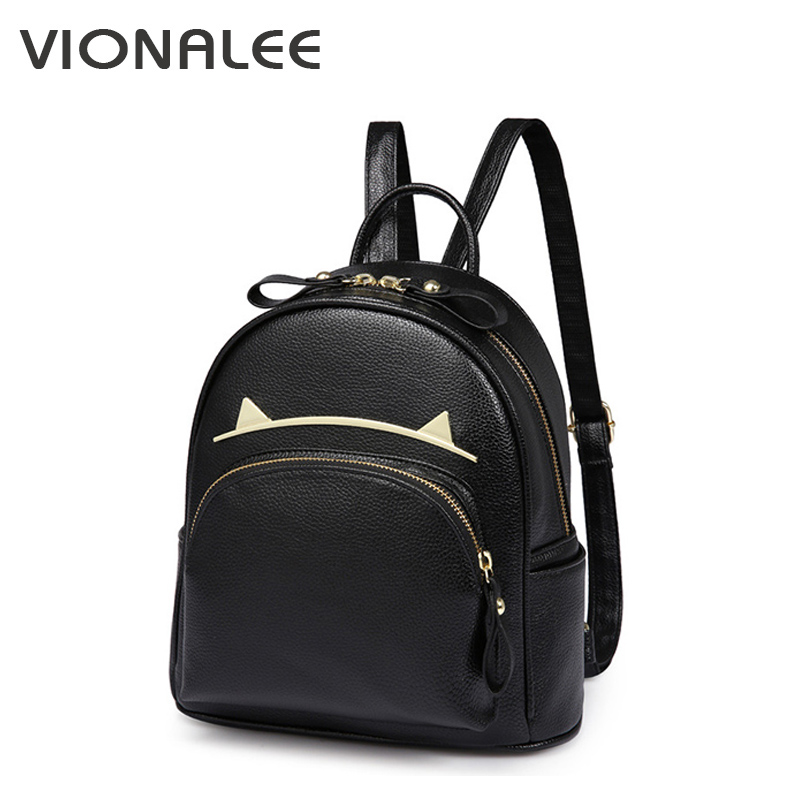 Black Ear Bags For Girls Cat Women Bagpack Schoolbag Sequin Black Backpack Designer Backpack For Girls