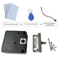Free Shipping Home Office Private Locker Drawer RFID Card Lock Black Electronic Invisible Hidden Rfid Cabinet