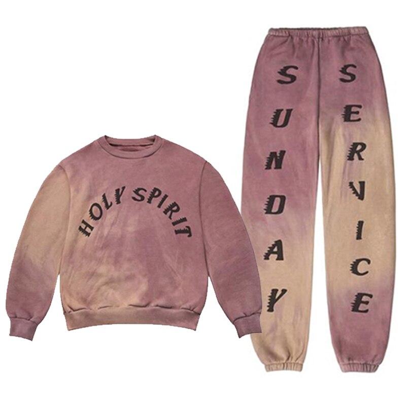 2019 nouvelle conception de mode marque Hip Hop hommes femmes Kanye ouest saint esprit Hoodies coton 100% 1:1 hommes s sweat pantalon