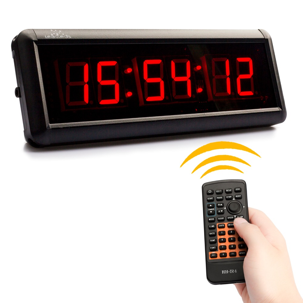 LED Display Remote Control Clock Timer Countdown Screen Display High Brightness Led Light For Gym Basketball Court Match Use 2017 hot led display space isolator recharge base remote control uv lamp vacuum cleaners