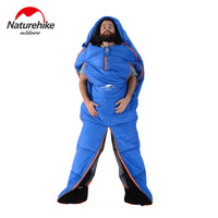 2016 Naturehike Splicing Mummy Single Sleeping Bag Cotton Leg Split Family Outdoor Indoor Human Shape Adult