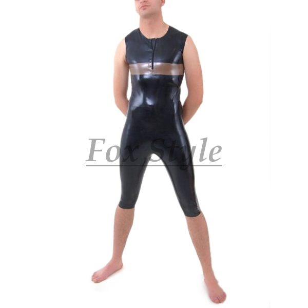 male s latex breeches with latex top rubber latex sets
