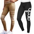 Missufe Black Summer Women Sporty Legging Skinny Stretch Slim High Waist Leggins Pants 2017 Exercise Sporting Leggings For Women