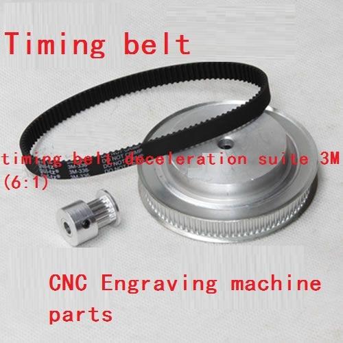 CNC Router machine parts - timing belt pulleys,timing belt kits deceleration 3M (6:1) все цены