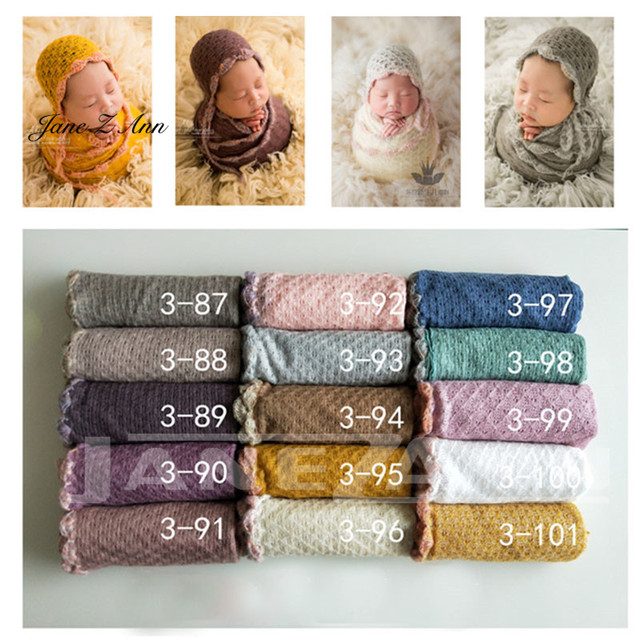 92147301fa8 Jane Z Ann Knit Stretch Wraps Newborn Baby Photography Backdrops Background  Newborn Blanket+hat Props Photography fabric. 3 orders