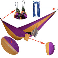 Parachute Hammock Camping Survival Garden Flyknit Hunting Leisure Hamac Travel Double Person Hamak