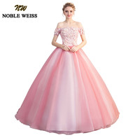 a1c84c908 NOBLE WEISS Pink Ball Gown Quinceanera Dresses 2019 Strapless Formal Sweet  16 Dress Long Floor Length