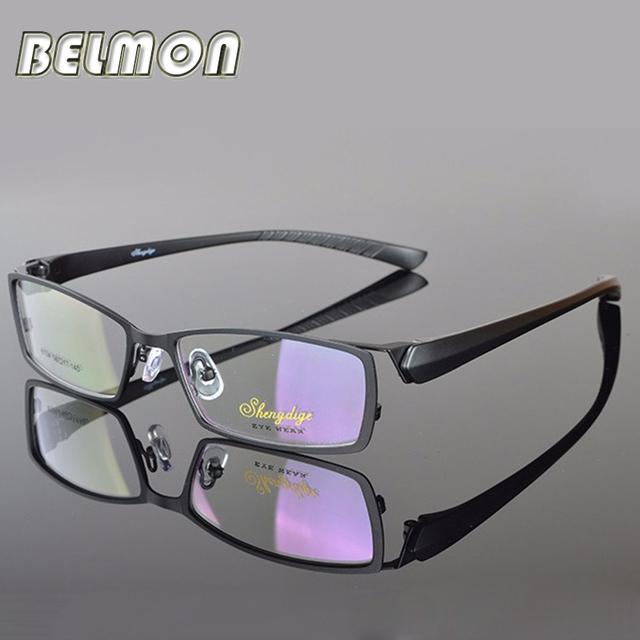 Gafas de Montura de Gafas Hombres Miopía Gafas Marco Óptico Del Ordenador Para Hombre Transparente Lente Clara Armacao gafas de RS026