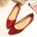 Lady's Novelty soft Weaving Western Pointed toe Platform Women boat Driving pregnant Casual shoes Big sizes (4-15) Summer style
