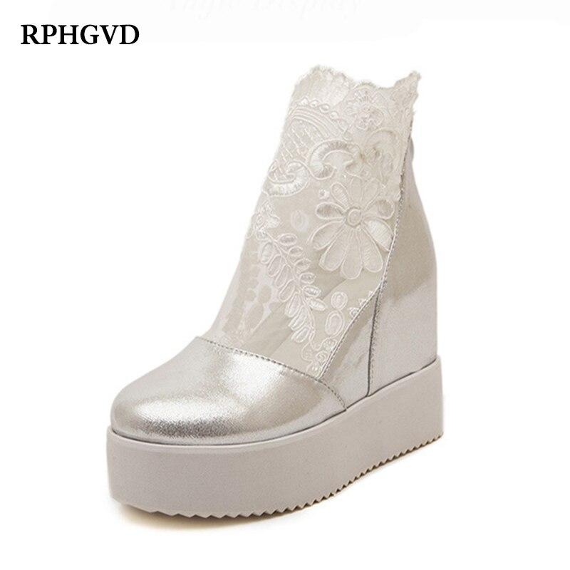 New Wedge Heel Sandals Muffin Platform Raised Non slip Waterproof Thick Round Loop bottomed Shoes Open Toe High Heels WomenWomens Pumps   -