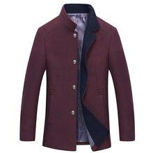 2017 40% шерсть осень и зима новый среднего возраста мужская шерсть пальто мода чувство собственного утолщение мужская куртка гэри MK450