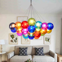 цены Creative design Modern LED colorful glass pendant lights lamps for dining room living room bar led G4 85-265V bubble glass light