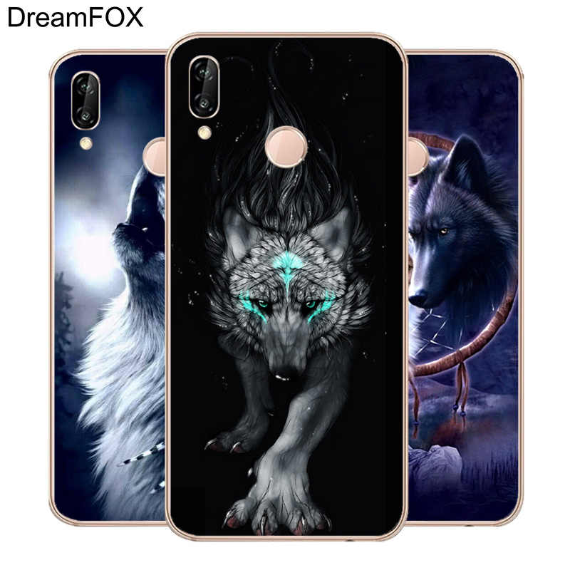 DREAMFOX M082 Cute Animals The Wolf Soft TPU Silicone  Case Cover For Huawei Honor 6A 6C 7X 9 10 P20 Lite Pro P Smart