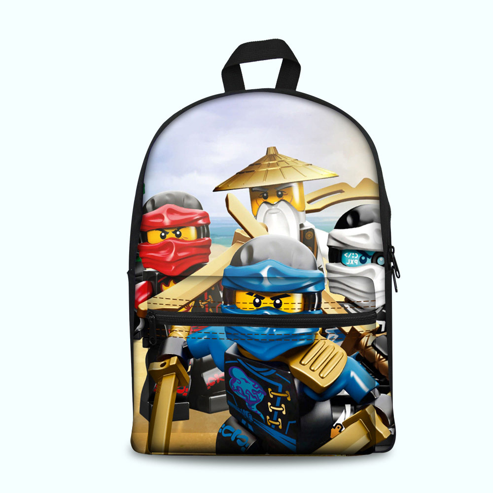 Kids & Baby's Bags Games Ninjago School Backpacks Vintage Printing Book Backpack Letter Rucksack For Teenagers Laptop Bags Bagpack Dropshipping Luggage & Bags